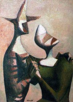 Frantisek Tichy,  Romance 1948 painting oil on canvas (Czech Rep.)