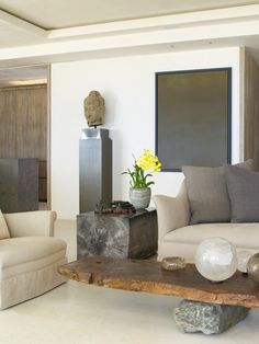 Contemporary Living Room: .