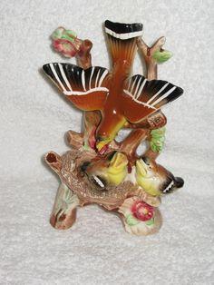 SALE 20% off Vintage 1950 era Ucagco yellow BIRD figurine nice details and coloring porcelain Japan. $16.00, via Etsy.