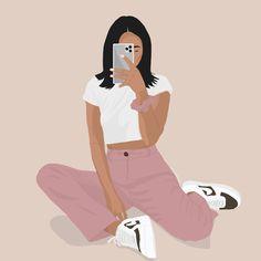 #michelleinfusino #michelleinfusinooutfits #fashionillustration #fashion #fashionblogger #illustration #design #graphicdesign People Illustration, Portrait Illustration, Graphic Illustration, Illustrations, Grafic Art, Small Canvas Art, Cartoon Art Styles, Black Girl Art, Minimalist Art