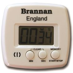 Easy to read count up and count down kitchen timer. Supplied packaged in box with and battery.