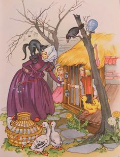 Vintage illustration: Grimms Fairy Tales - Hansel and Gretel
