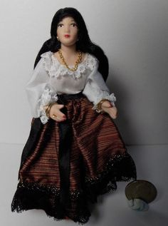 Dollhouse Miniature Gypsy Doll or Fortune Teller Doll   1:12   1 inch scale  B #Unbranded