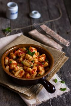 Potato Gnocchi with Tomato Sauce by girovegandoincucina #Gnocchi