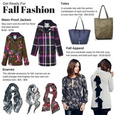 Welcome our new arrivals and get your wardrobe ready for #Fall with scarves, water proof jackets, totes and cozy tops!