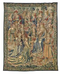 A FRANCO-FLEMISH SEIGNEURIAL TAPESTRY EARLY 16TH CENTURY Price realised GBP 187,200 USD 330,970 Estimate GBP 60,000 - GBP 90,000 (USD 106,080 - USD 159,120)