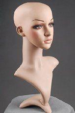 LOUTOFF Neu Wig Perückenkopf Dekokopf Schaufensterpuppe Mannequin Weiblich H-1