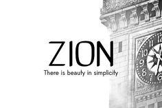 Zion Minimalist Font by GOICHA on @creativemarket