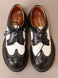 Vintage 90's Ska Black & White Brogue Shoes