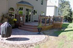 deck with a patio