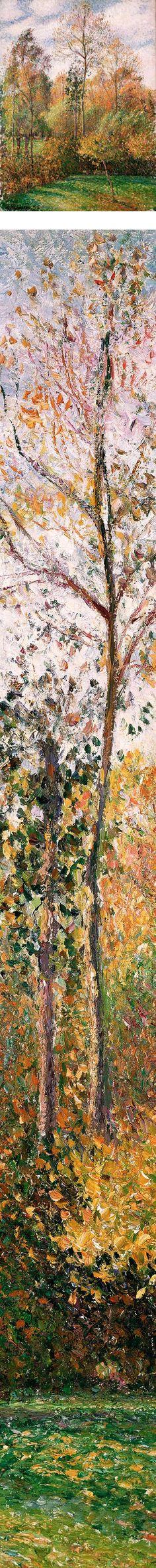 Autumn Poplars, Eragny; Camille Pissarro