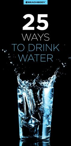 25 ways to drink more water // how to drink more water // water tips // best ways to drink more water // nutrition tips // weight loss tips // beachbody Nutrition Drinks, Health And Nutrition, Health And Wellness, Health Tips, Mental Health, Diet Plans To Lose Weight, Weight Loss Tips, Daily Water Intake, Beachbody Blog