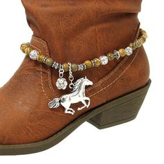 Horse Charm Western Cowgirl Cowboy Boot Jewelry Anklet Charm Strap