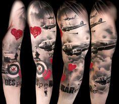 beautiful trash polka tattoo