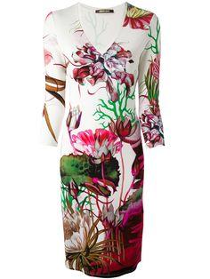 Roberto Cavalli Flower Printed Fitted Dress - Kety Paniagua - Farfetch.com Had2B@100% MO