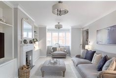 Who says new builds have to be boring and characterless right? this pic was taken by the estate agents of our lounge and I never posted it… Rectangular Living Rooms, Narrow Living Room, Living Room Lounge, Living Room Grey, Home Living Room, Long Living Rooms, Neutral Living Rooms, Open Plan Kitchen Living Room, Open Plan Living