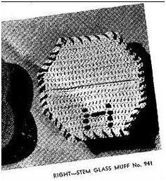 STEM GLASS MUFF CROCHET PATTERN #1304
