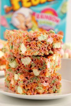 Ice Cream Pebbles Marshmallow Cereal Bars RecipeReally nice  Mein Blog: Alles rund um die Themen Genuss & Geschmack  Kochen Backen Braten Vorspeisen Hauptgerichte und Desserts # Hashtag