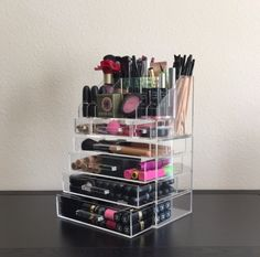 Acrylic Makeup Organizer Large 4 Drawer with Storage Modular Tray – The Makeup Organizer