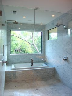Bath in the shower, modern home dream!