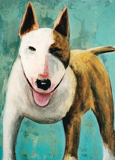 Jack-portrait of an English Bull Terrier. by Rose Long £1