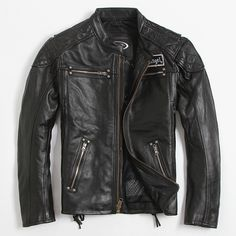 Find More Leather & Suede Information about Men's Leather Jacket Motorcycle…