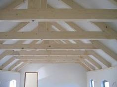 Surprising Ideas: Roofing Garden Rooftop Deck shed roofing dormer.Shed Roofing Types roofing tiles loft conversions.Metal Roofing Homes. Exposed Trusses, Roof Trusses, Roof Truss Design, Roof Ceiling, House Ceiling, Fibreglass Roof, Pergola Curtains, Ceiling Detail, Roof Architecture
