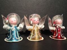 Foil and chenille angels