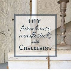 Do you love the farmhouse decor? Want to make some amazing DIY farmhouse candlesticks with chalkpaint? It is a simple home decor project! Distressed Furniture Painting, Painted Bedroom Furniture, Chalk Paint Furniture, Furniture Design, Country Farmhouse Decor, Farmhouse Furniture, Farmhouse Style, Farmhouse Ideas, Cottage Style