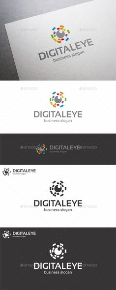 Digital Eye Logo – Creative, Unique and Colorful Logo Design for your business. An excellent logo template suitable for media, photography, technology, music production, app, mobile application, communications, software development businesses, design agencies, video developers, and many other.