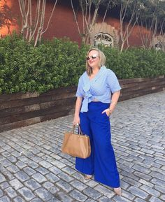 When I bought these pants many months ago in a showstopping electric blue, I knew I would wear them to some sort of fashion event. Daffodil, Wide Leg Trousers, Electric Blue, Atlanta, J Crew, Fashion Outfits, Blouse, Spring, Fall