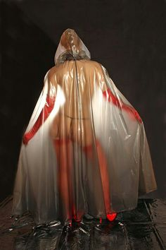 Transparent plastic cape