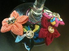 Bright upcycled Summer Nights Wine Glass Charm by ReThinkMe, $7.00