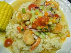 Just in time for MARDI GRAS, Baby!! Rachel Ray's BEER BRAISED SHRIMP WITH LOUISIANA STYLE SALSA AND RICE!!