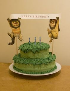 party perfect: back by popular demand... (a 'wild things' birthday party!) cake and great decor