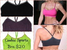 Coobie Seamless Sport Bra! Super soft & comfortable, cute & functional. This bra is available in 3 sizes -Small, Medium & Large, & features a racer back style with adjustable straps for an exacting fit. Made of the same great stretch fabric as the standard Coobie bras it's sure to please. This style does not have pads. #coobiesportsbra #sportsbra #coobiebra
