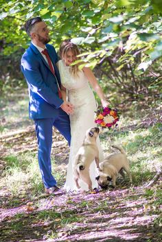 Our wedding our pugs ;)