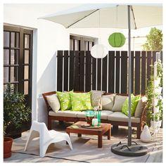 applaro 3er sitzelement aussen braun las hallo beige sonnenschirm weisslounge mobelkleine terrasseikea