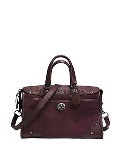 Coach Satchels Rhyder Satchel In Suede and Smooth Leather