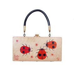 "Enid Collins of Texas ""lucky lady bugs"" box bag. #findingENIDwithLOVE #enidcollinsoftexas #enidcollins #vintagepurse #vintage style #lucky #ladybug"