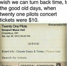 Concert ticket prices make me stressed out ~k