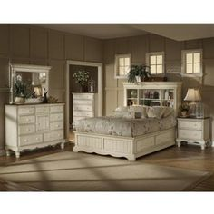 1000 images about bookcase headboard storage beds on pinterest bookcase headboard bookcase for Antique white king size bedroom sets