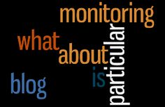What's Particular about Blog Monitoring?