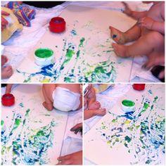 Diese Fingerfarbe kann man sogar essen, muss man aber nicht ;-) – oder – Fingerfarbe für die Kleinsten | Lilamalerie.de