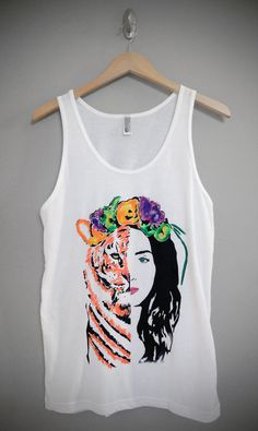 Hey, I found this really awesome Etsy listing at http://www.etsy.com/listing/164842888/katy-perry-roar-eye-of-the-tiger-tank