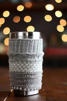 Go green and stay cozy with these simple DIY coffee-sleeve ideas.