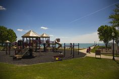 The Walter and Mary Burke Park in New Baltimore offers scenic views of Anchor Bay and a family-friendly beach and playground area.