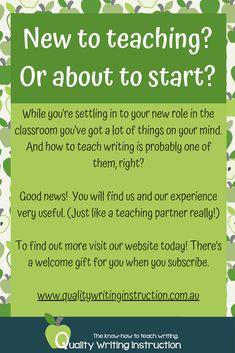 Quality Writing Instruction is your teaching partner when it comes to knowing how to teach writing.  Join our community for support, resources and professional, expert advice on how to teach writing and motivate and engage your students.  #teachingwriting #beginningteachers #writing Teaching Writing, How To Know, Good News, Students, Join, Mindfulness, Classroom, Things To Come, Advice