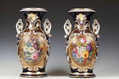 Pair of French Valentine Porcelain Vases image 2