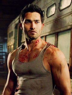 Tyler Hoechlin. Even covered in fake blood, he's sexy as hell!